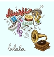 gramophone composition vector image