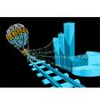 Financial balloon vector image vector image