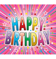 happy birthday greeting vector image vector image