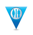 toilet BLUE triangular map pointer vector image vector image