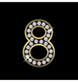 Number eight sign vector image