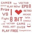 Red Pixel Art Slogans vector image vector image