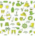 summer seamless pattern green yellow vector image