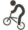Cycling BMX icon vector image