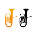 golden icon of tuba vector image
