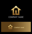 home agent realty gold logo vector image