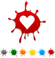 Love blot vector image