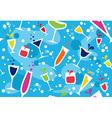 Multicolour cocktail pattern vector image