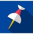 push pin origami flat icon vector image
