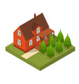residential building isometric view vector image