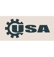 USA word build in gear vector image