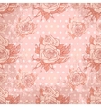 vintage wallpaper with seamless rose pattern vector image