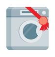Washing machine in Flat Design vector image