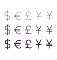 Set of currency signs vector image