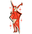 Pin up devil vector image vector image