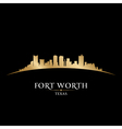Fort Worth Texas city skyline silhouette vector image vector image