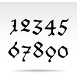 Ghotic numbers vector image