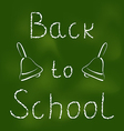 Back to school background with text and bells vector image