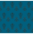 seamless blue retro pattern vector image