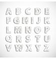Alphabet letter set vector image