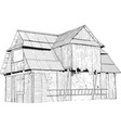 abandoned wooden house vector image