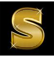 Golden font type letter S vector image