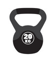 kettlebell sport equipment cartoon style vector image