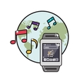 smartwatch and communication related icons image vector image