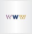 w letter set logo icon design elements vector image