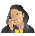 Women on phone vector image