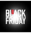 Black Friday on Halftone Background vector image vector image