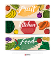 Food hand draw banner vector image vector image