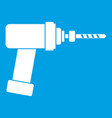 medical drill icon white vector image
