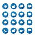 Long shadow style weather icons vector image vector image