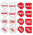 set of retail tags vector image