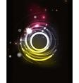 Glowing circle in dark space vector image vector image