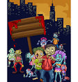 Zombies walking in the city vector image