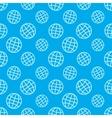 Globe icon pattern vector image vector image