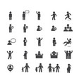 collection of people in activities icon set vector image