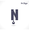 Creative N letter icon abstract logo design vector image