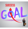 Goal to success vector image