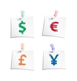 Hands draw money symbols vector image