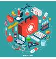 Healthcare concept isometric icon vector image