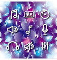 icon set music and sound design graphic vector image