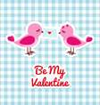 Two birds with love letter vector image