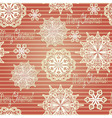 Seamless Background with paper cut snowflakes vector image vector image