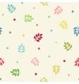 Colorful seamless branches background vector image vector image