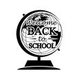 Globe Back to School vector image vector image