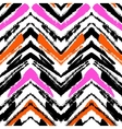Multicolor hand drawn pattern with zigzag lines vector image