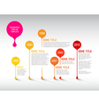 Infographic timeline report template with bubbles vector image vector image